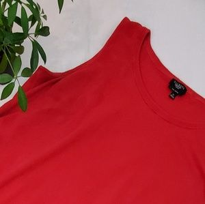 Talbots Red Knit Top Sleeveless Pima Cotton B;end